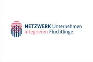 Logo NETZWERK Unternehmen Integrieren Flüchtlinge